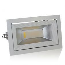 30W LED COB Downlight Rectangular, Rotatable